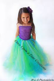 Mermaid Halloween Costume Kids Mermaid Inspired Princess Tutu Dress Birthday