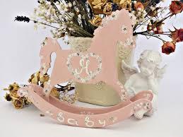 customized baby items personalized rocking decor baby girl nursery decor