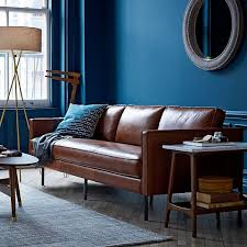 Midcentury Leather Sofa Mid Century Tripod Floor Lamp Antique Brass Tripod Floor Lamp
