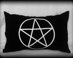 triple moon goddess pillow wiccan pillow wiccan home decor