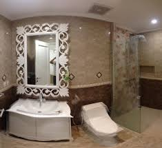 bathroom mirrors for bathrooms ideas in warm themed bathroom with