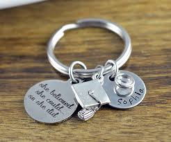 graduation keychain she believed she could so she did graduation gift personalized