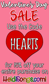 valentines sale a s day sale heidi songs
