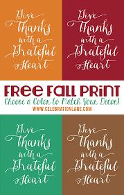 Thanksgiving Printable Free Thanksgiving Quote Free Printable Celebration