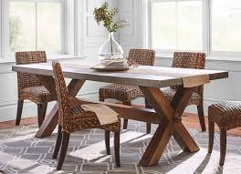 pottery barn concrete table 7 rustic dining tables