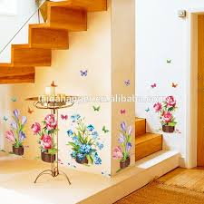 Butterfly Kitchen Decor Diy Wall Stickers Home Decor Potted Flower Pot Butterfly Kitchen