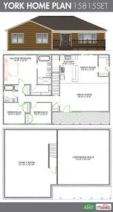 york 3 bedroom 2 bathroom home plan features cathedral ceiling