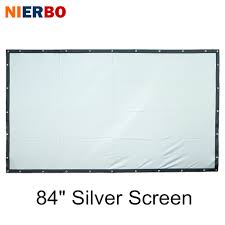 home theater projector screens online get cheap silver projector screen aliexpress com alibaba