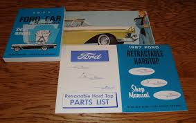 1957 ford car shop service manual owners sales brochure 12 piece