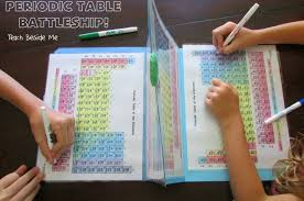 Periodic Table Project Ideas Periodic Table Battleship Teach Beside Me
