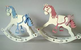 3d rocking horse model or card now in multi format options