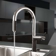 oscar pull down dual spray kitchen faucet with grip yliving