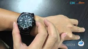 dx curren 8110 s tungsten steel band quartz wrist