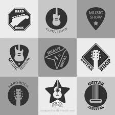 imagenes logos musicales colección de logos de festival de música descargar vectores gratis