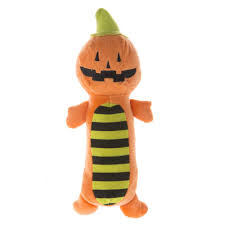 thrills and chills pet halloween pumpkin long body dog toy dog