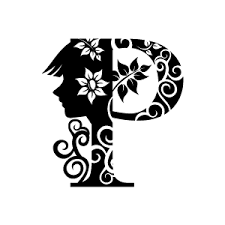 Design Black And White Flower Clipart Black Alphabet P With White Background Download