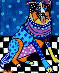 australian shepherd ebay heather galler dog art australian shepherd dog art