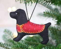 cocker spaniel ornament felt ornament millie