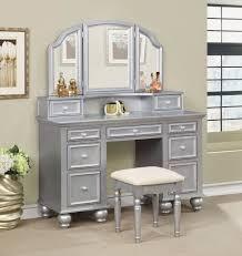 Vanity Set Furniture Furniture Of America Athy Silver Vanity Set Cm Dk6848sv Savvy