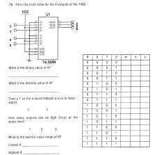 What Is A Truth Table Fill In The Truth Table For The 3 Outputs Of The 7 Chegg Com