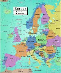 map western europe cities map of western europe with major cities major tourist