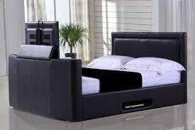 Kingsize Tv Bed Frame Monaco 5ft Kingsize Tv Bed Black Leaders Creative Tv Bed Frame