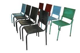 chaise m tallique mobilier vintage industriel francisco segarra pour hôtellerie