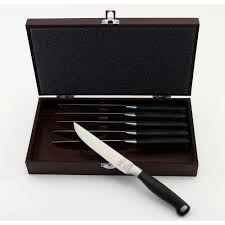 steak knife sets cutlery cooking food preparation the home bistro steak knife with case 6 pack