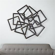 multi squares metal wall decor crate and barrel