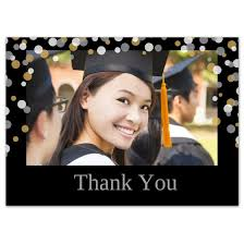 graduation thank you card graduate confetti 5x7 graduation thank you card
