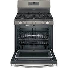 ge appliances jgb660eejes 5 0 cu ft freestanding gas range slate