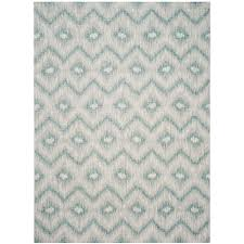 Outdoor Throw Rugs by Safavieh Courtyard Gray Turquoise 9 Ft X 12 Ft Indoor Outdoor