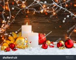 candles ornaments lights stock photo