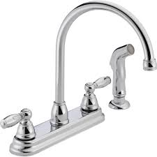 peerless apex 2 handle standard kitchen faucet with side sprayer