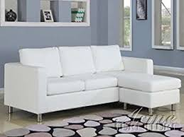 Apartment Size Sectional Sofas by Amazon Com 2 Pc Kemen Collection White Leather Like Vinyl