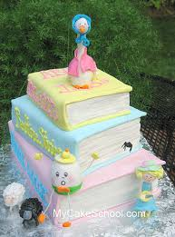 mother goose baby shower cake 3 tiers of fondant covered c u2026 flickr