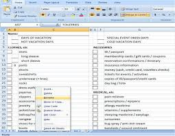 List Of Spreadsheet Software Packing List For Families Customizable Stuffed Suitcase