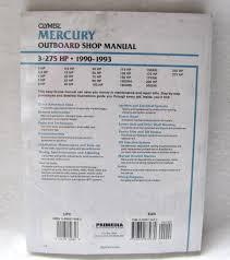 clymer repair manual mercury 3 275hp outboards b722 ebay