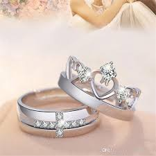 new rings images images New lovers rings 30 silver white gold open size zircon love jpg