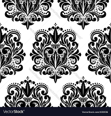 beautiful seamless damask pattern royalty free vector image