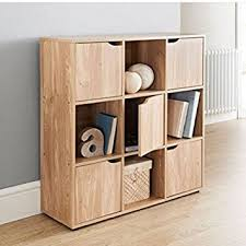 Teen Bookcase Great Gift Wooden Storage Cube System Bookcase Unit Cabinet