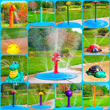 just attach a garden hose for your backyard splash pad if a