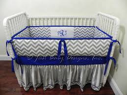 Gray Baby Crib Bedding Custom Baby Crib Bedding Set Skyler Baby Boy Bedding Royal