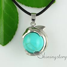 crystal ball necklace images Dolphin ball chakra stones pendant chakra healing necklace jewelry jpg