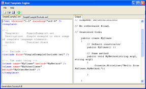 xml template engine code generator in net codeproject