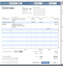 how to add a markup to an estimates markup column quickbooks