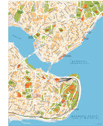 Map Of Istanbul Download Istanbul City Vector Maps Illustrator Freehand Eps