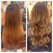 hair color and foil placement techniques turned her diy brassy ombré into an amazing blonde ombré it s all