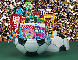 football gift baskets soccer gift baskets by candy baskets