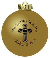 personalized remembrance ornaments memorial ornaments personalized